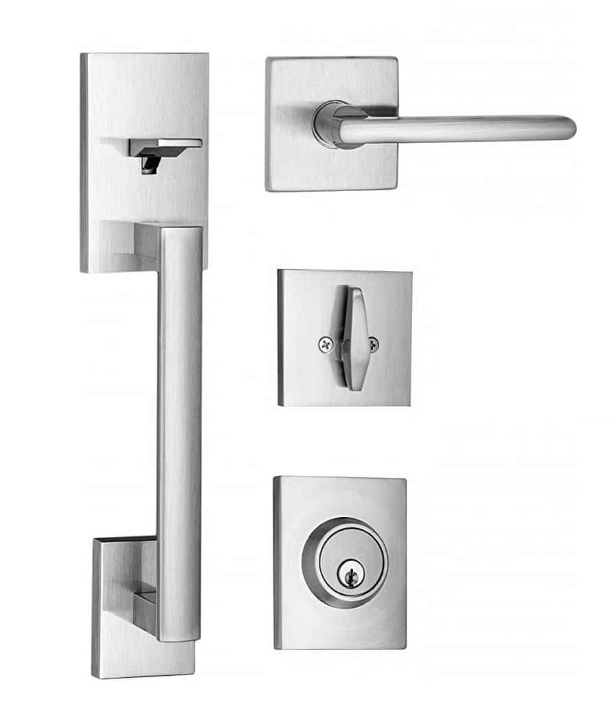 Berlin Modisch Front Door Lock Handle Set