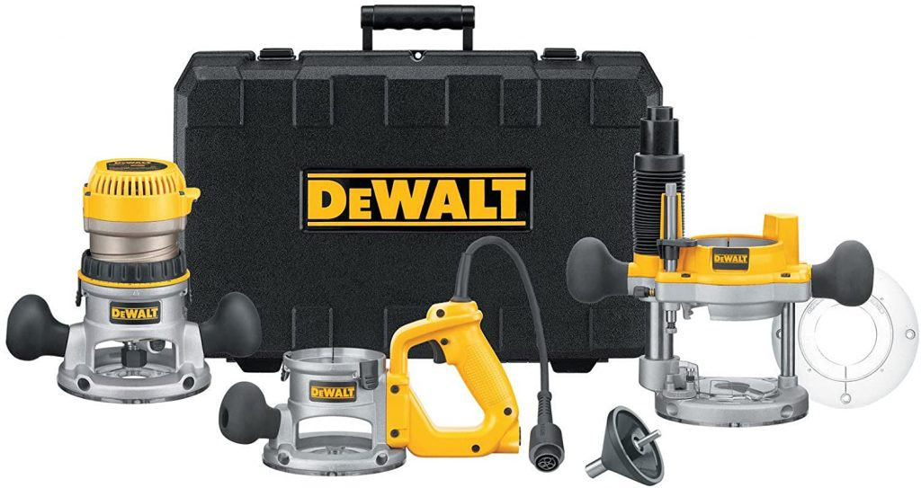 DEWALT DW618B3 Corded Combo Router with D-Handle Base